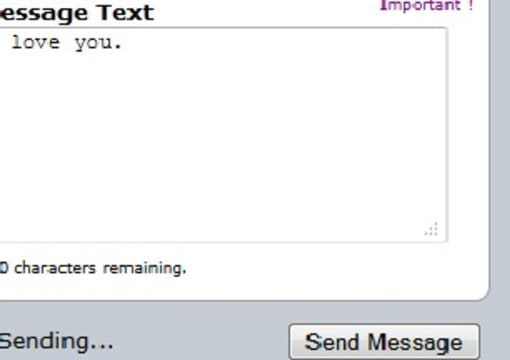 Secret admirer messages