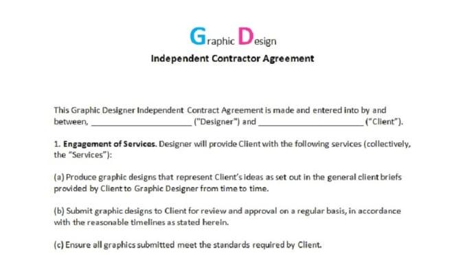 graphic design contract  invoice  estimate form by djkoolaide