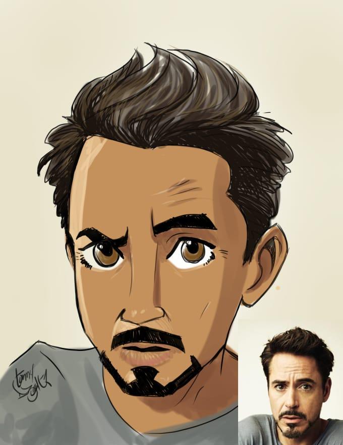 draw an awesome cartoon style portrait