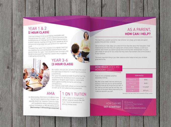 design your corporate brochure or catalog