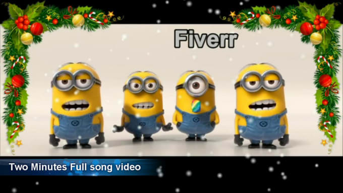 make a christmas video with four minion by maskonface - Minion Christmas Song