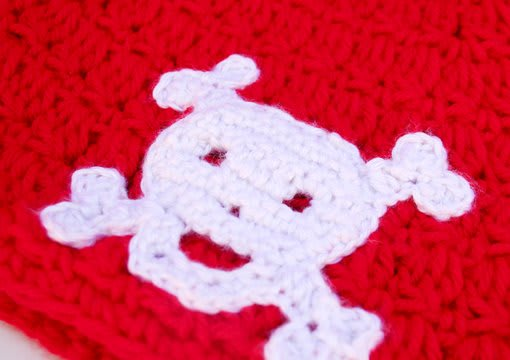 Make You A Crocheted Skull And Crossbones And Mail It To You By