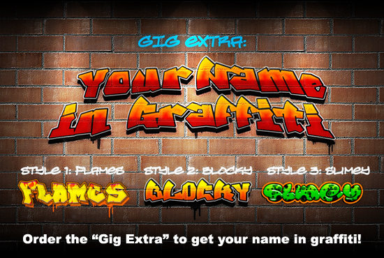 lextasy : I will spray paint your logo or create graffiti on a wall for $5  on www fiverr com