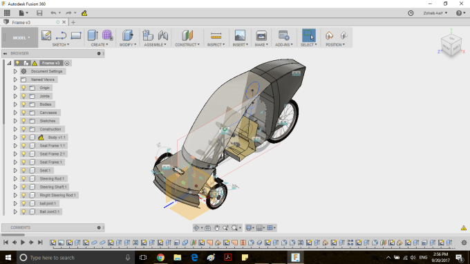 do fusion 360 3d model and designing