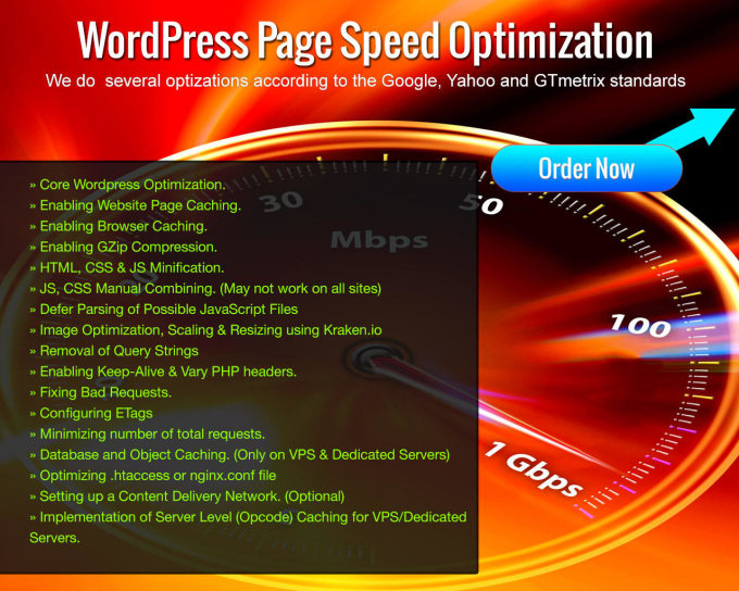 Increase wordpress site speed within 24 hours by Valajigar16