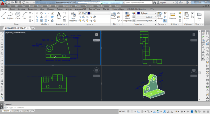 streetrider43 : I will design and create 3d models and 2d work on autocad  for $30 on www fiverr com