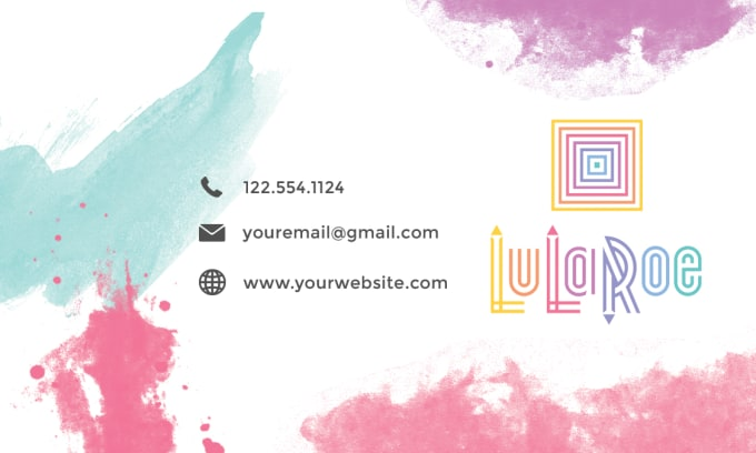 Create Personalized Custom Lularoe Business Cards