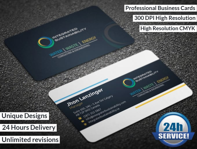 Do Awesome Business Card Designs By Graphicstore