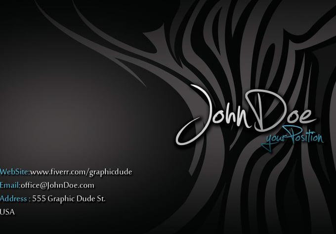 Design a black business card with cool light zebra print by graphicdude design a black business card with cool light zebra print reheart Choice Image