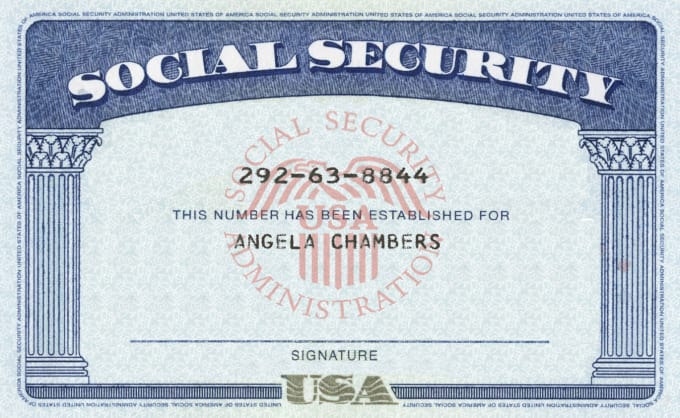Modify your novelty dl ssn within 1hours by clippingpath247 for Make a social security card template