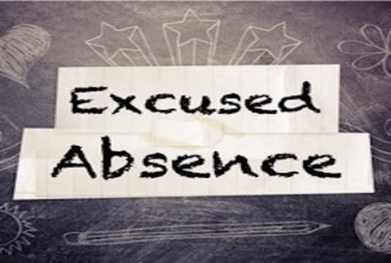 provide a excused absence note for any occasion