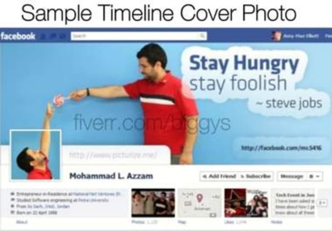 Design or customized facebook page timeline cover photo banner to ...