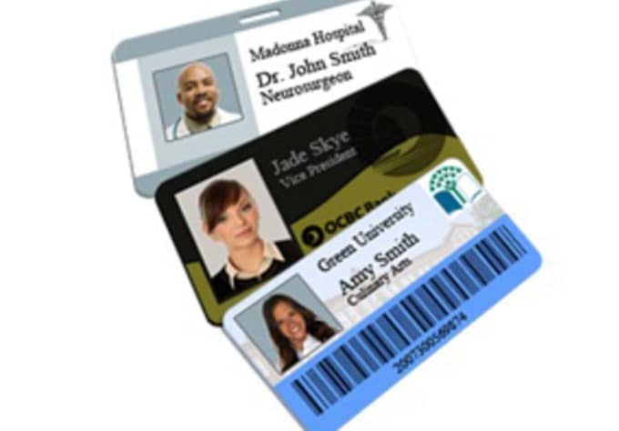 create a custom name tag or id badge for you by gwc360