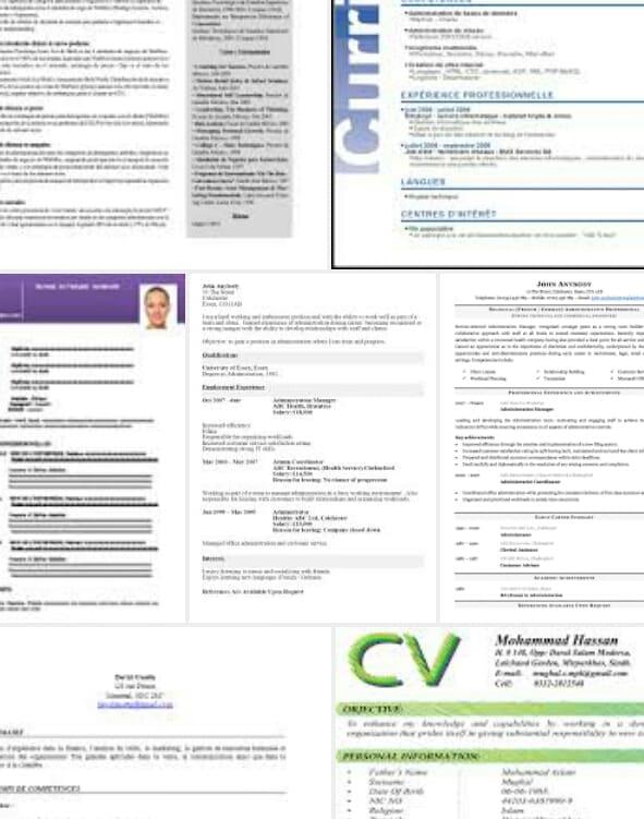 creation curriculum vitae ou cv professionnel en francais en format word pdf jpg by bourkiba
