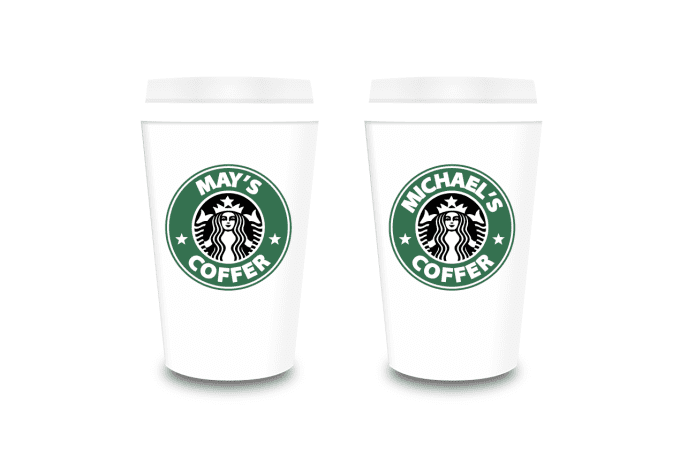 Create A Personalized Name Starbucks Cup Logo Printable Png
