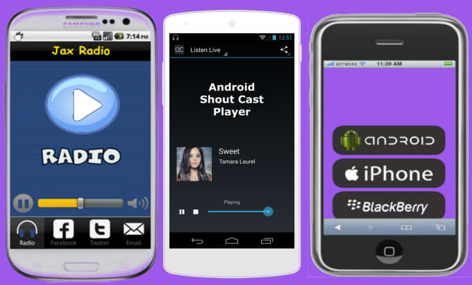 compile android shoutcast player for your radio station