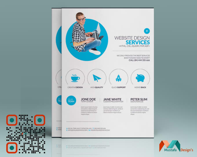 design an leaflet poster flyer or advert design