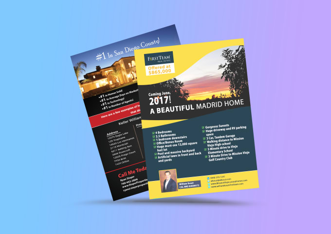 create minimalist brochures trifold flyers and posters by blitz design