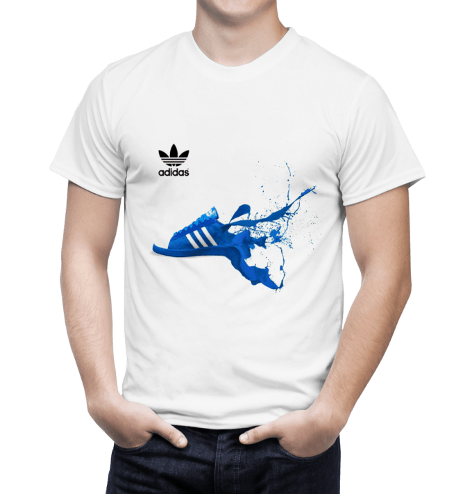 Nike T Shirt Design | Design Creative Adidas And Nike T Shirts With Colorful Image By
