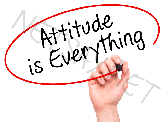 """essays on attitude is everything The poem """"attitude"""" by charles swindoll this is a greatt poem i wish i had seen it many years ago when i wrote an artuicle on attitude is everything."""