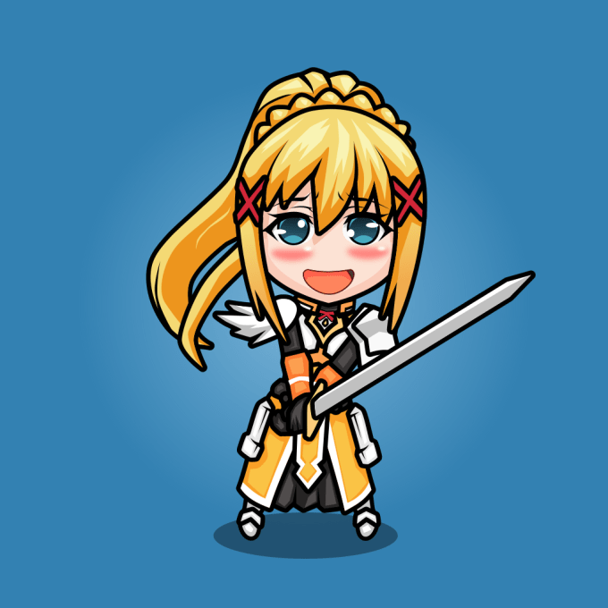 Make A Character Design In Cute Anime Chibi Style In