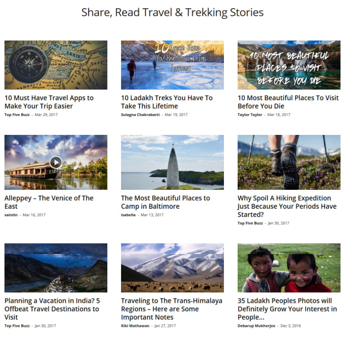 publish travel article, content on my authority travel blog