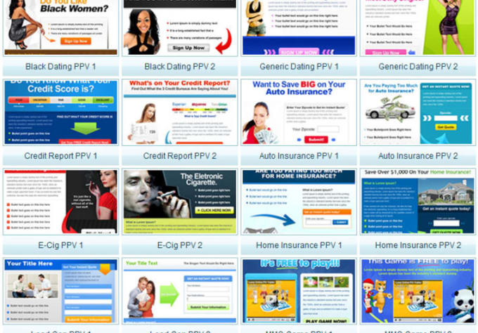 Website landing page headlines for dating
