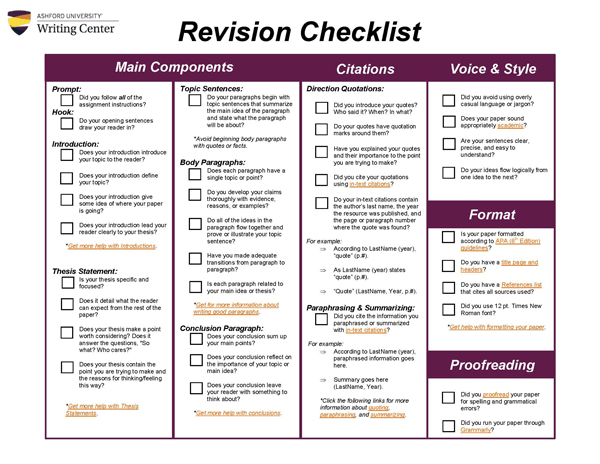 essay writing editing checklist This self-editing checklist is the ideal addition to your k-3 writing folders there is a full-colour edition as well as a printer-friendly black and white edition this is a student-friendly checklist with visual supports.
