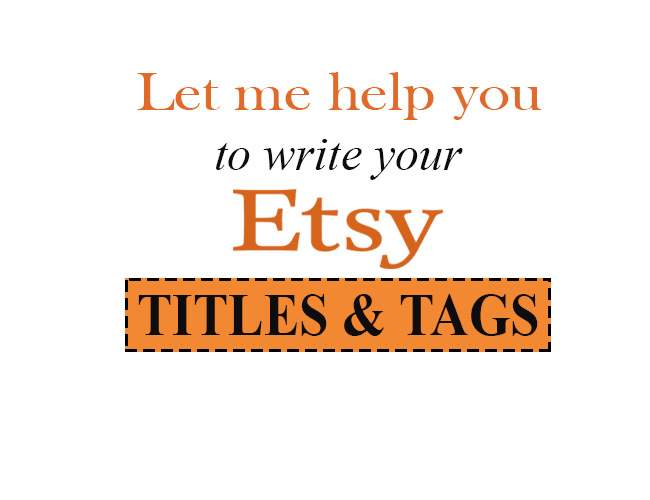 write your etsy titles and tags