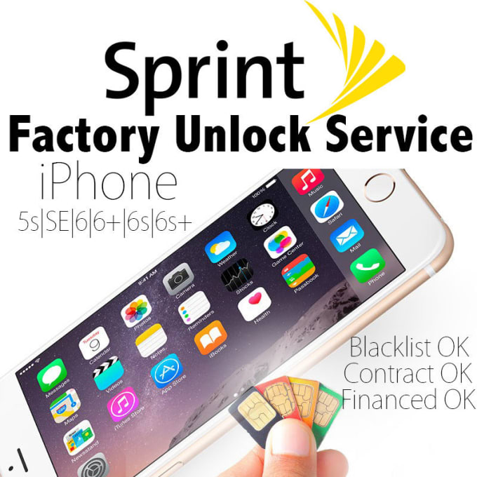 iphonefreedom : I will super Fast Factory Sprint iPhone Unlock for $65 on  www fiverr com