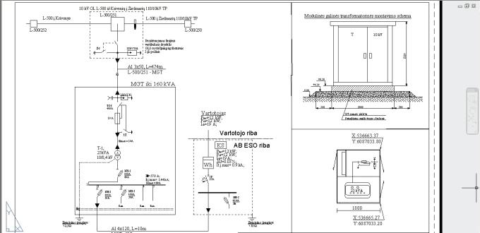 draw electrical scheme with autocad