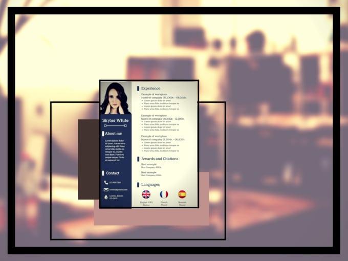 design professional and original resume CV