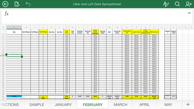 Send You An Uber Or Lyft Data Spreadsheet