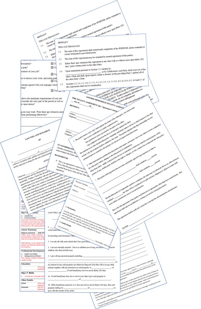 Send You Blank Resumes And Cv Tips By Bundlebuyers