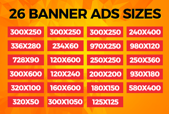 Best Fiverr Deal 2018 Design 26 Sizes Google Adwords Banner Ads In