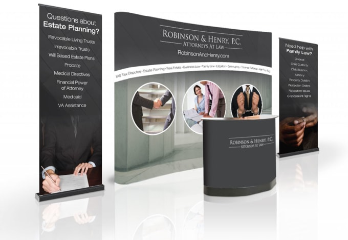 Exhibition Booth Banner : Design amazing a backdrop tradeshow booth or retractable banner by