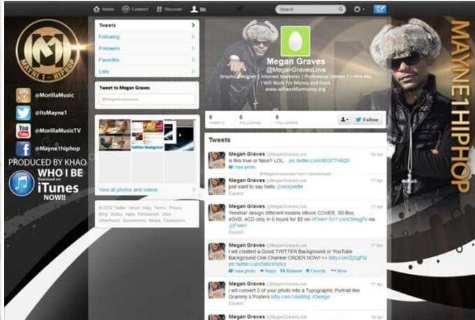 design youtube banner or facebook cover or twitter header by youtuberpro