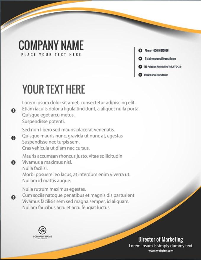 Design Business Card Resume Letterhead Invoice Stationary
