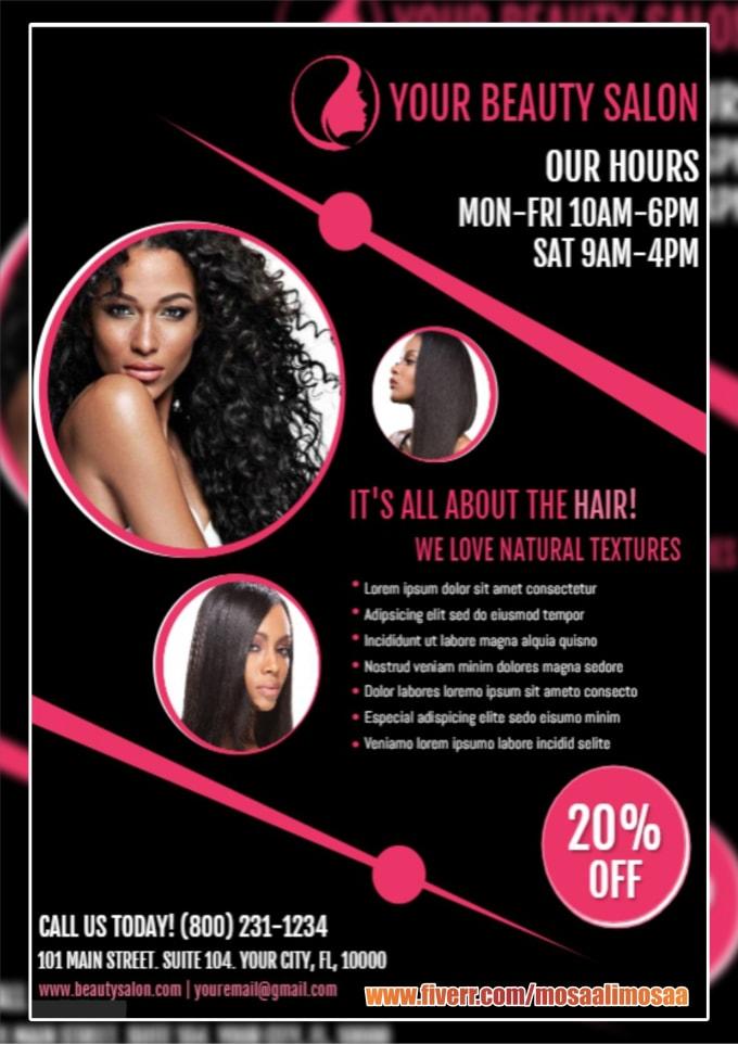 do professional beauty spa and salon flyer,poster,menu,price list,brochure