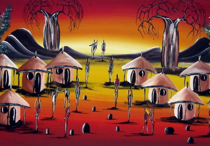 Pictures Of African Art Paintings