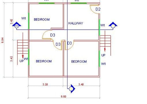 Layout simple floor plans in autocad by