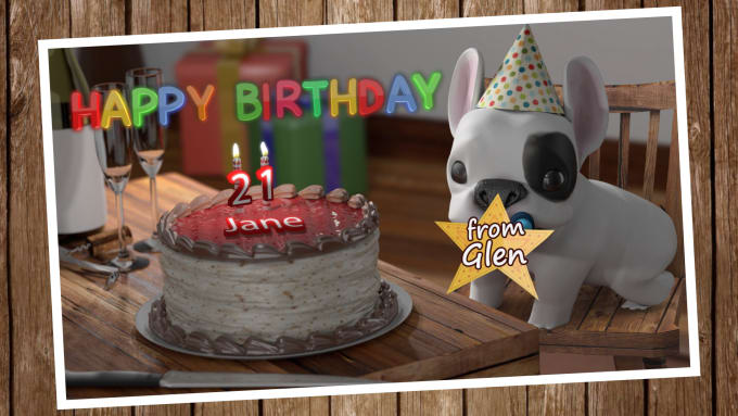 Customize a funny birthday greeting video in 3d for you by escape m4hsunfo