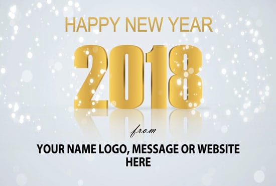 Animate a new year 2018 greeting ecard video by Kim_pottinger
