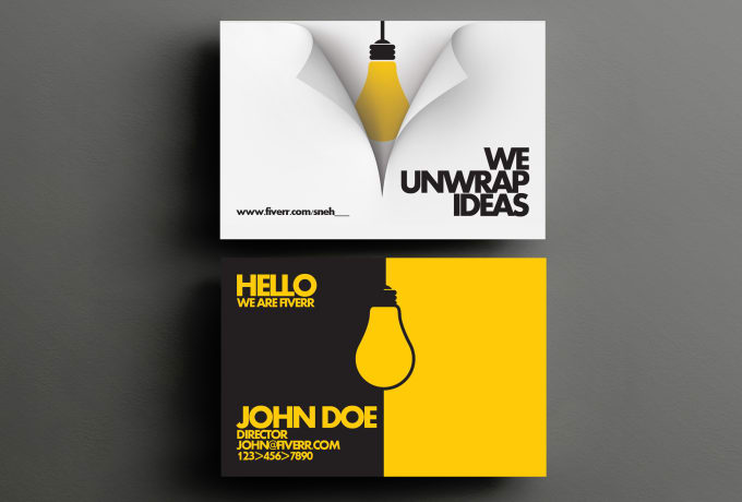 Design amazing business card for you by sneh for Amazing business card designs