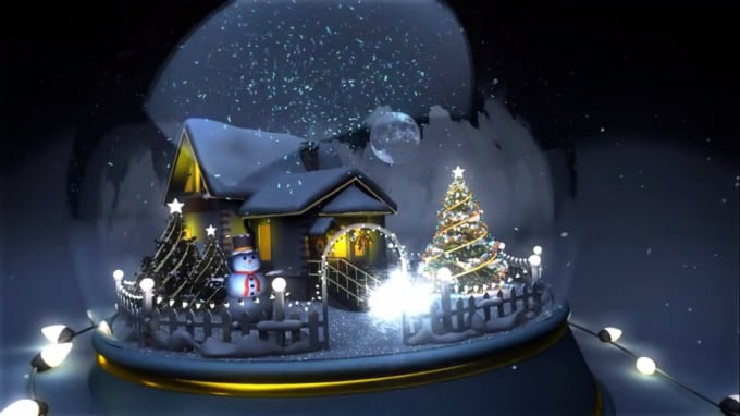 Make memorable christmas video greeting intro m4hsunfo