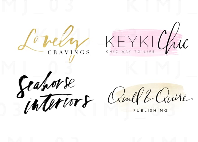 Design a hand lettering signature logo by kimj
