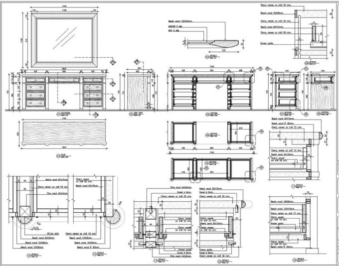 how to draw furniture in autocad