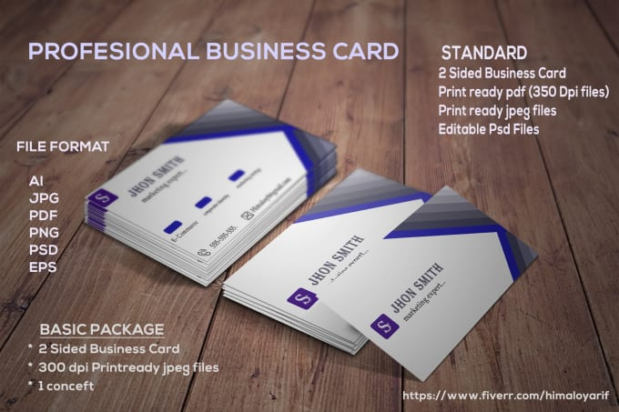 Do awesome business card design within source file by himaloyarif reheart Image collections