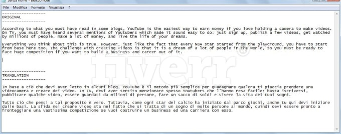 English To Italian Translation: Translate For You 1200 Words From English To Italian By