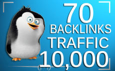 improve google traffic on your web or keywords with 70 seo backlinks